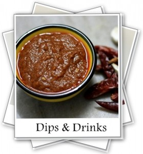 Recipe Index- Dips & Drinks - My Weekend Kitchen