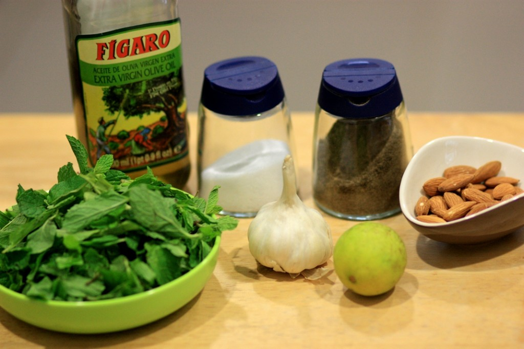 Ingredients Mint-Almond Pesto