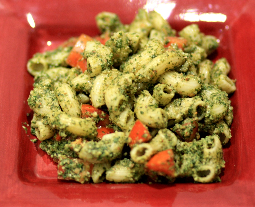 Mint-Almond Pesto Pasta Salad
