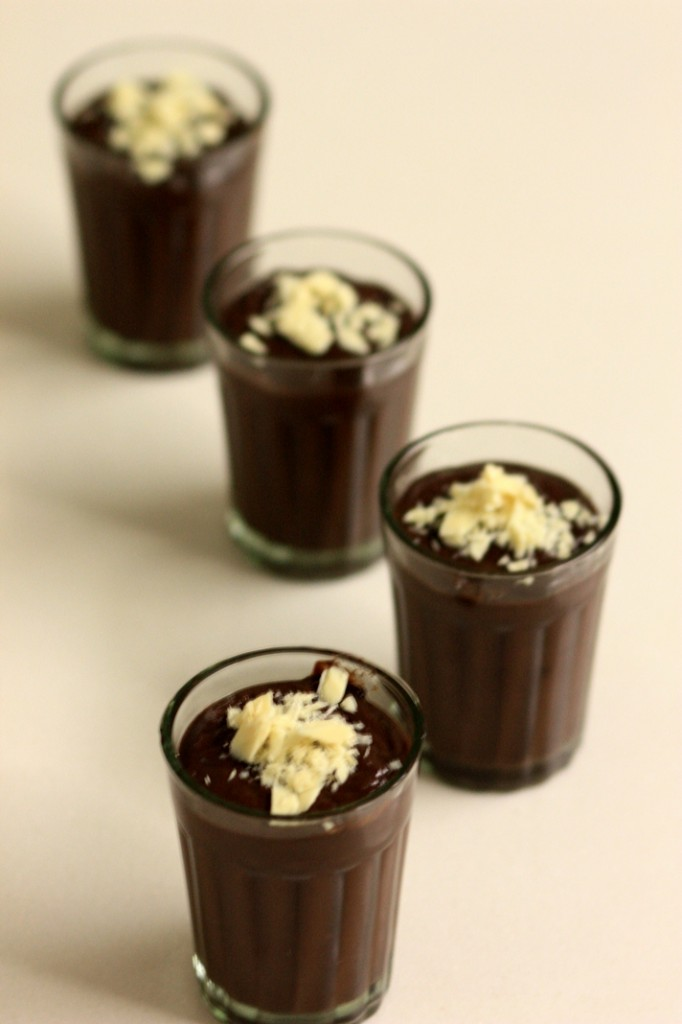 chocolate pudding shots - a take on Nigella Lawson's Budino Di Ciocclato
