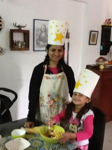 Monica and Nandini star cafe, cooking with kids, kids activities