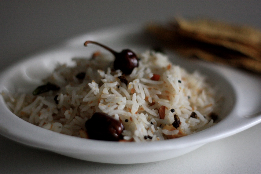 thenganikai annam, coconut rice, coconut flavored fragrant pilaf, pulao, south indian rice recipe