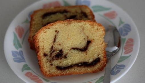 nutella swirl cake, marble cake, nutella cake, nutella recipe