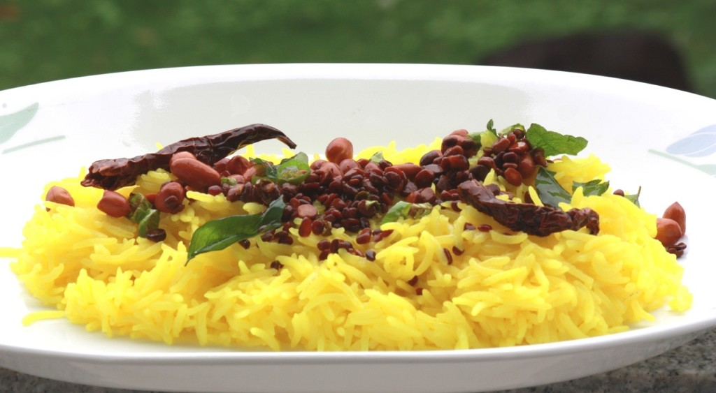 lemon rice, south indian cooking, Indian rice recipes, pilaf, lemon pulao