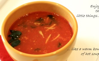tomato curry leaves soup, tomato soup, Indian soup, soup recipe, soups for helping in cold